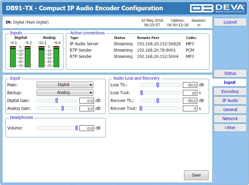 ENCODEUR IP DB91-TX