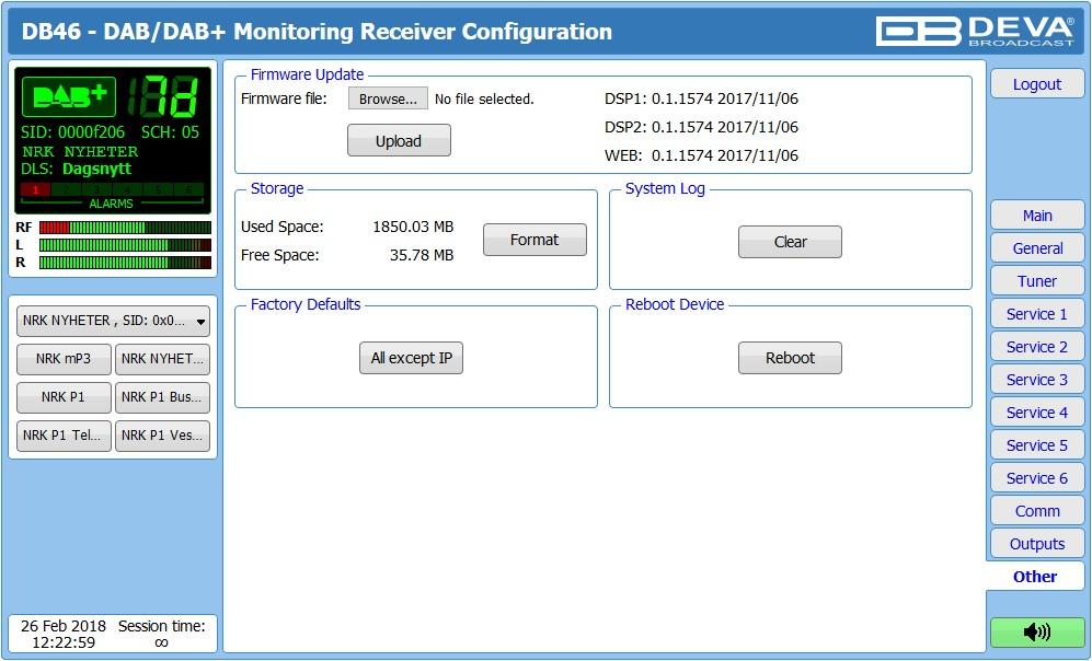 DB46 - Récepteur Compact de Monitoring DAB / DAB+